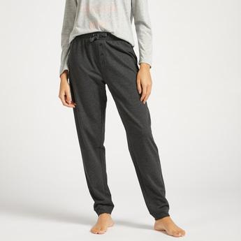 Solid Full Length Pyjamas with Drawstring Closure