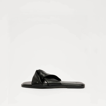Knotted Flat Slip On Sandals