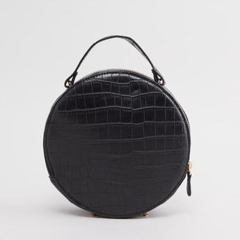 Textured Round Crossbody Bag
