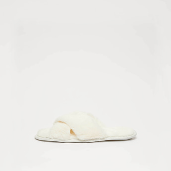 Bedroom Slippers with Crisscross Straps