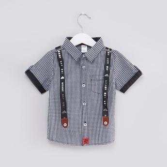 قميص كاروهات بحمّالات