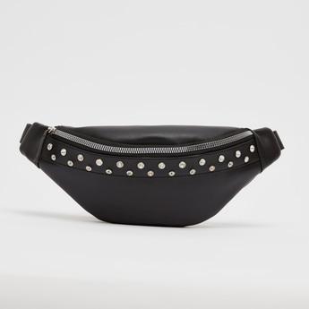 Embellished Waist Bag with Zip Closure