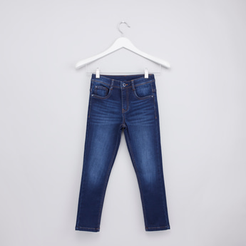 Full Length Jeans with Pocket Detail and Belt Loops