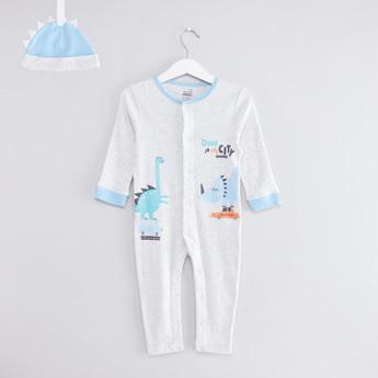 Dino Sleepsuit with Beanie Set