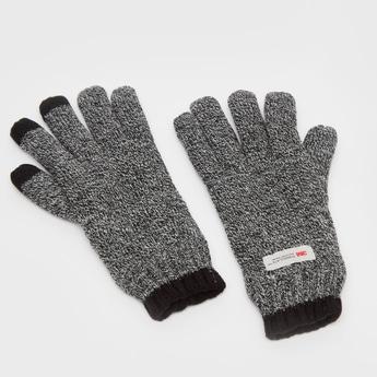 Textured Woolen Gloves