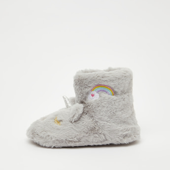 Plush Detail Boot Slippers