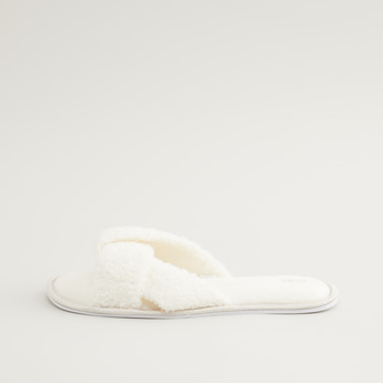 Slip-On Bedroom Slippers with Twisted Vamp