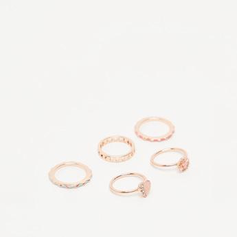 Pack of 5 - Studded Finger Rings