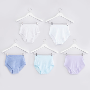 Set of 5 - Plain Full Briefs with Elasticised Waistband