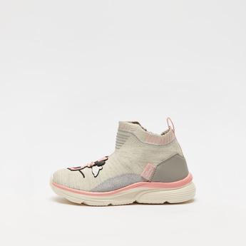 حذاء رياضي ميني ماوس بقصّة عالية مع إغلاق بسحّاب