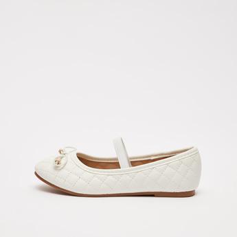 حذاء ماري جين مبطن سهل الارتداء بزينة فيونكة