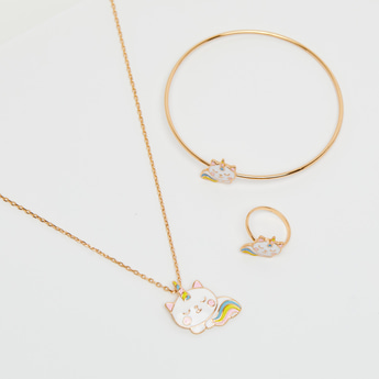 Unicorn Applique 3-Piece Jewellery Set