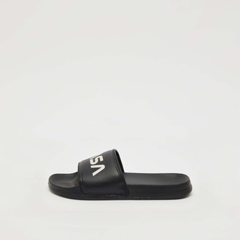 Textured Slides with NASA Print Vamp Band