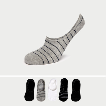 Pack of 5 - Assorted No Show Socks with Elasticised Hem