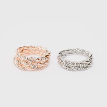 Set of 5 - Embellished Finger Ring