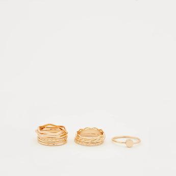 Set of 10 - Metallic Finger Rings