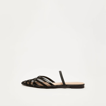 Strappy Pointed Toe Slides