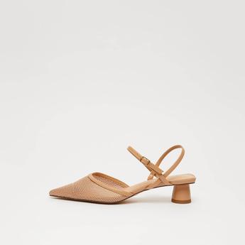 Pointed Toe Slingback Heeled Shoes