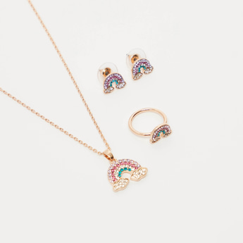 Studded Rainbow 4-Piece Jewellery Set