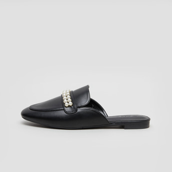 حذاء ميول بارز الملمس بتفاصيل مطاطية وكعب مكدس