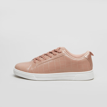 Plain Lace-Up Sneakers