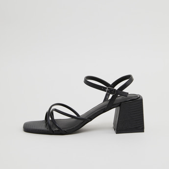 Ankle Strap Sandals with Buckle Closure