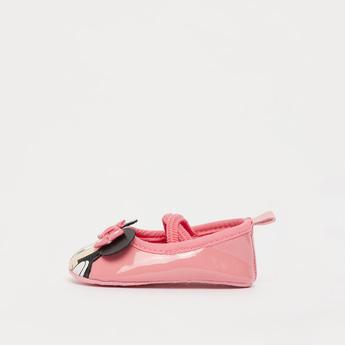 حذاء طويل بإغلاق مطاطي وزخارف ميني ماوس