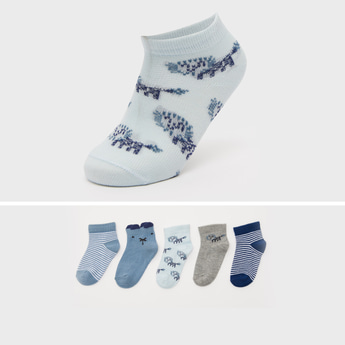 Set of 5 - Assorted Print Ankle Length Socks