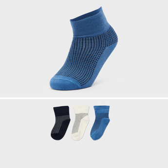 Set of 3 - Textured Slip On Socks