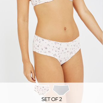 Set of 2 - Assorted Brazilian Briefs with Elasticised Waistband