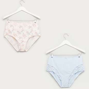 Set of 2 - Lace Detail Full Briefs