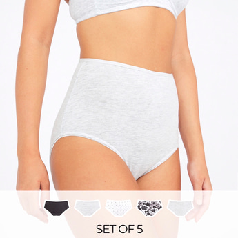 Set of 5 - Full Briefs with Elasticised Waistband