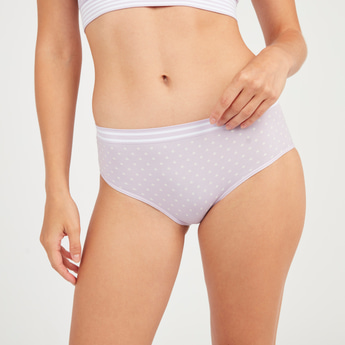 Printed Boyleg Briefs with Elasticised Waistband