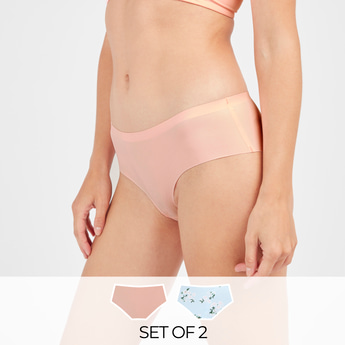 Set of 2 - Assorted Boyshorts with Elasticised Waistband