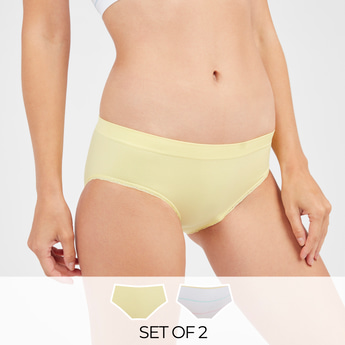 Set of 2 - Assorted Boyleg Briefs with Elasticised Waistband