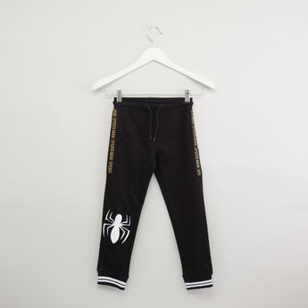 Spider-Man Printed Jog Pants with Pocket Detail and Drawstring