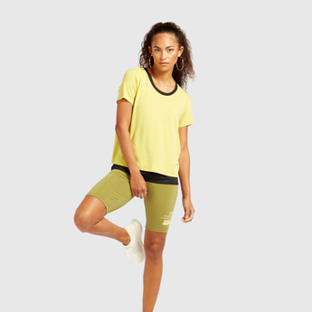 Printed Cycling Shorts with Elasticised Waistband