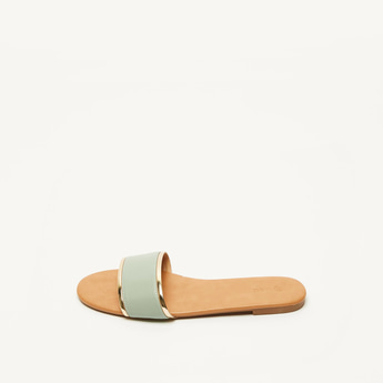 Slip-On Open Toe Flat Sandals