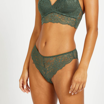 Brazilian Lace Briefs with Elasticated Waistband