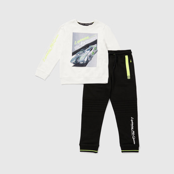 Lightning Mcqueen Round Neck T-shirt and Joggers Set