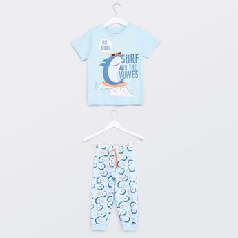 Printed T-shirt with Jog Pants