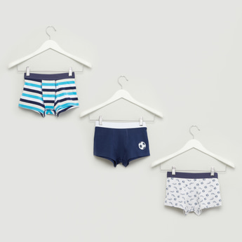 Set of 3 - Assorted Trunks with Wide Elasticised Waistband