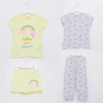 Printed 4-Piece Sleepwear Set