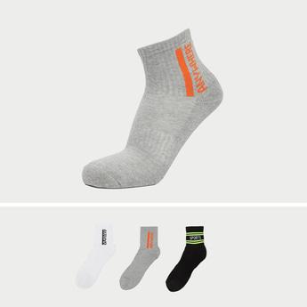 Set of 3 - Stripe Detail Crew Length Socks