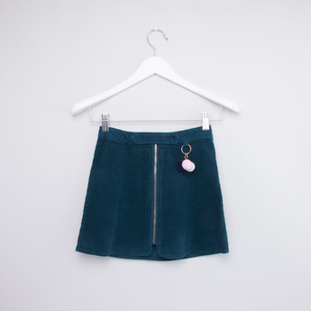 Textured Skirt with Plain Closed Feet Tights