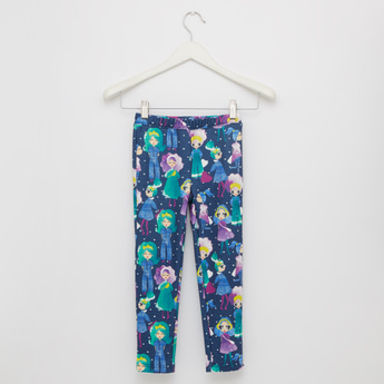 All Over Print Leggings with Elasticised Waistband