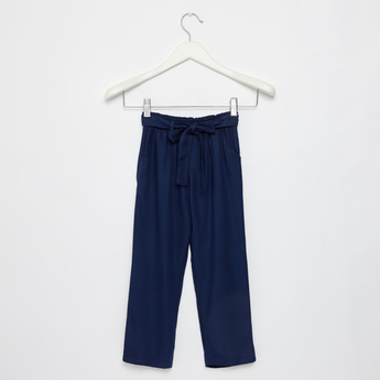 Solid Rayon Twill Woven Pants