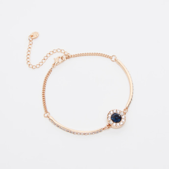 Studded Bracelet with Lobster Clasp
