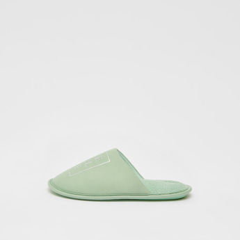 Slip-On Broad Vamp Bedroom Slippers