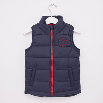 Solid Sleeveless Jacket